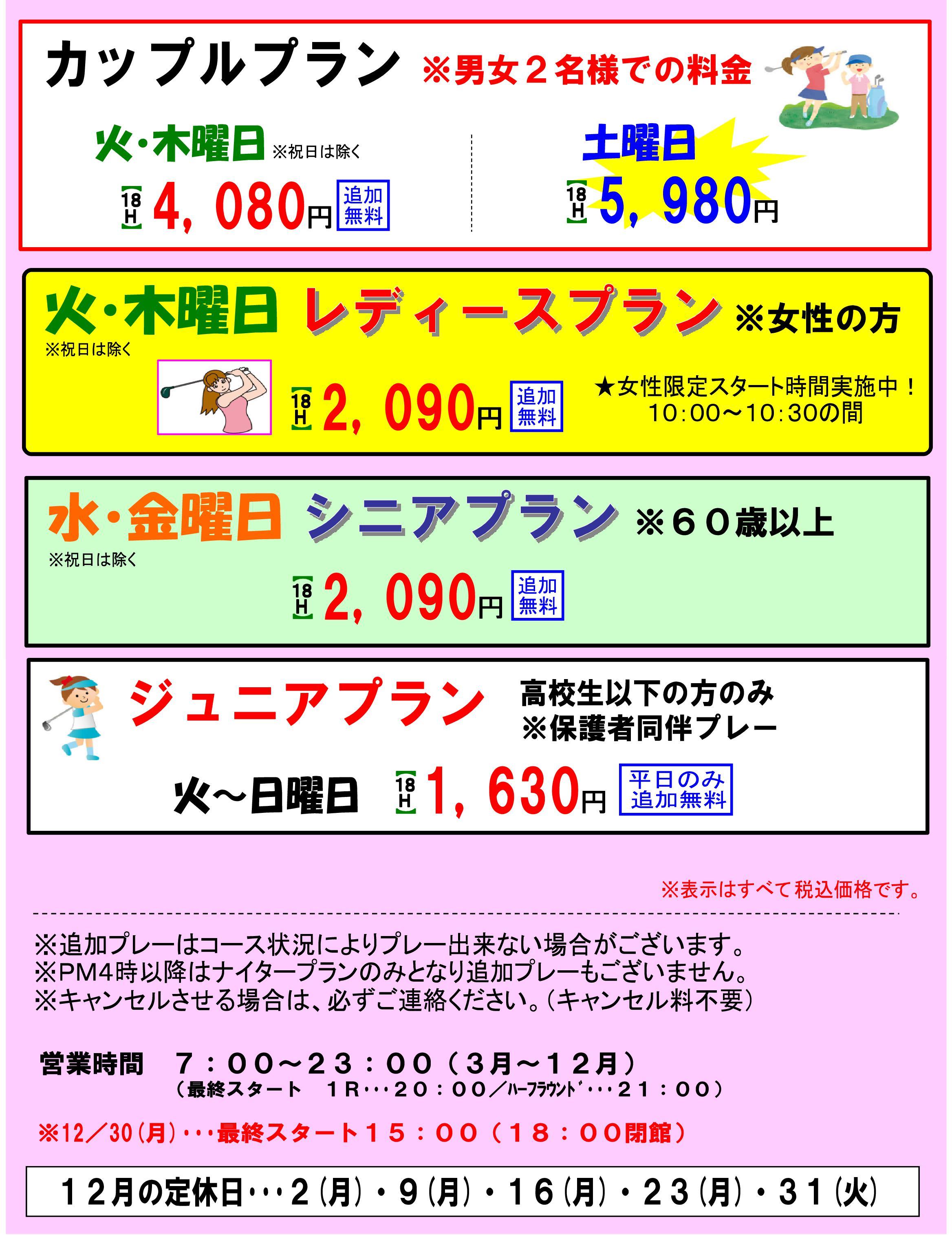 割引料金2019 HPアップ用12-002